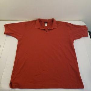 Mens Patagonia Organic 100% Cotton Polo Red XL